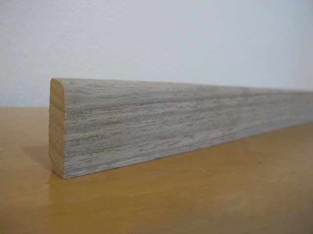 Floor moldings American walnut continuous 20x100mm